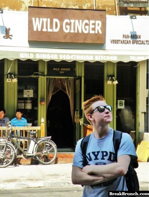 A wild ginger appears