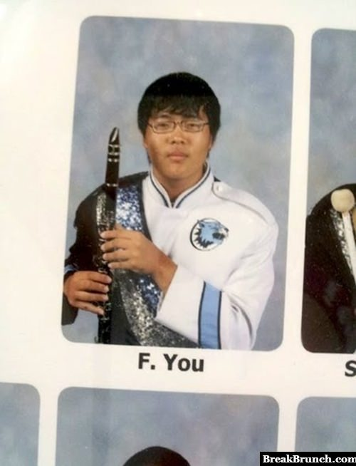 Best name in a yearbook