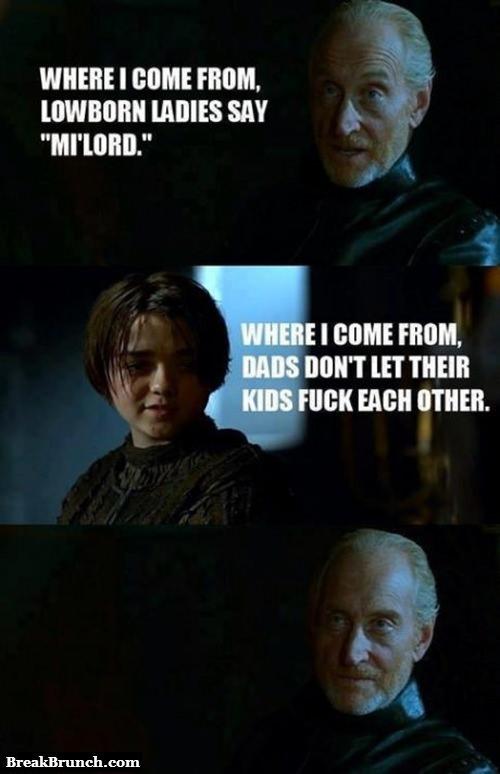 Arya Stark burns Tywin Lannister – Game of Thrones