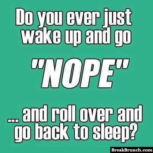 I do this every morning