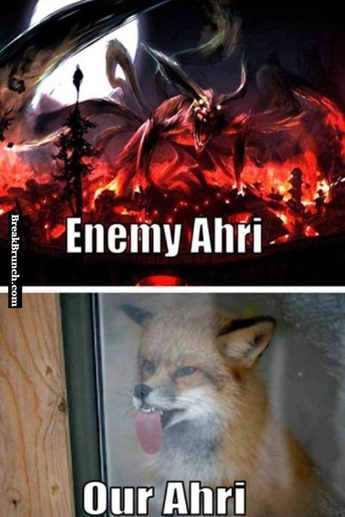 Enemy Ahri vs my Ahri