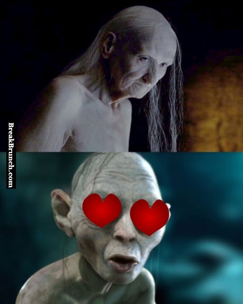 Gollum got a crush