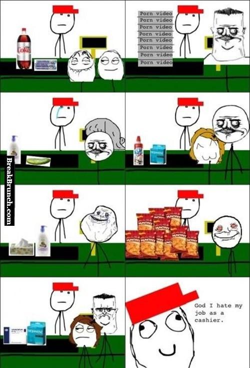 I hate my job as cashier