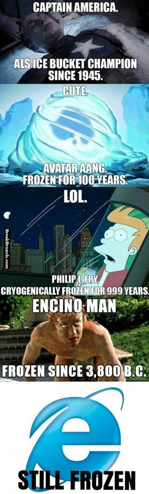 IE is still frozen