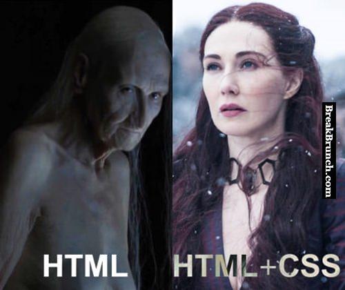 HTML vs HTML + CSS