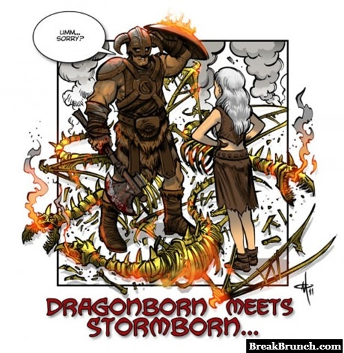 When dragonborn meets stormborn