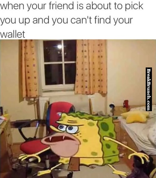 When you can't find your wallet