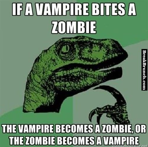 What if a vampire bites a zombie