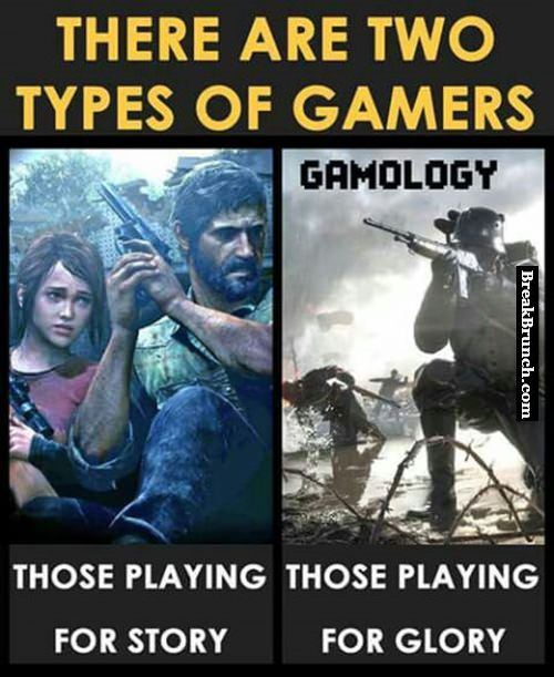 There are 2 types of gamers