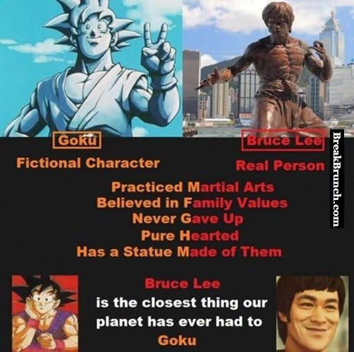 Bruce Lee is the closest thing to Goku