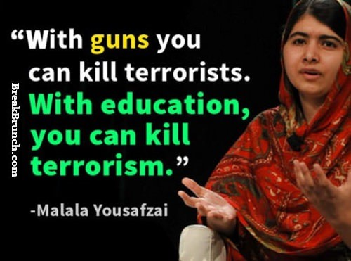 With education you can kill terrorism