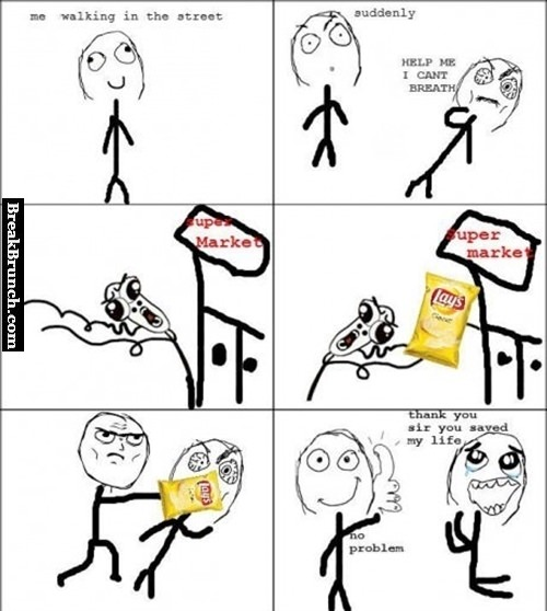 How to save life with bag of potato chip