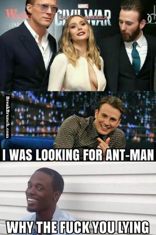 He was looking for Ant-Man