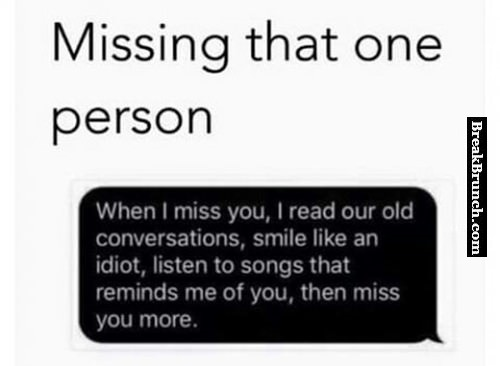 Missing that one person