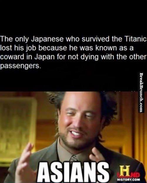 The only Japanese who survived Titanic