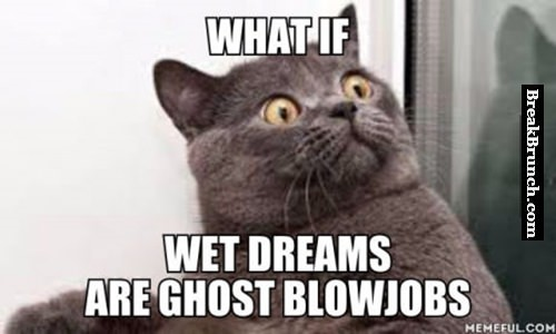 What if wet dreams are ghost blowjobs
