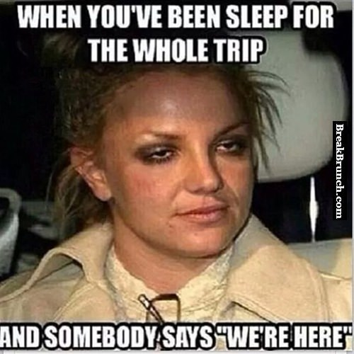 When you sleep during the trip