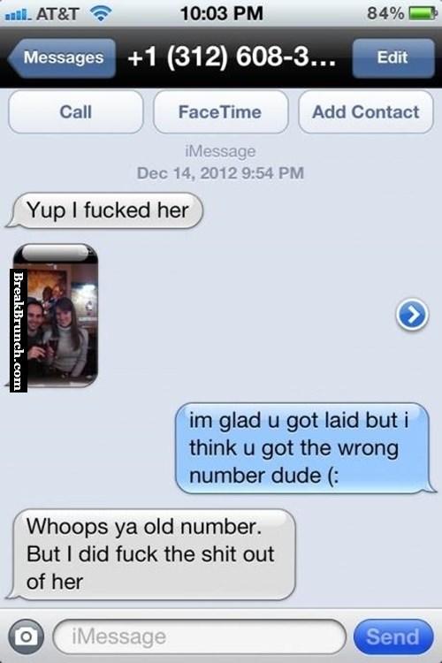 Congrats you got laid dude