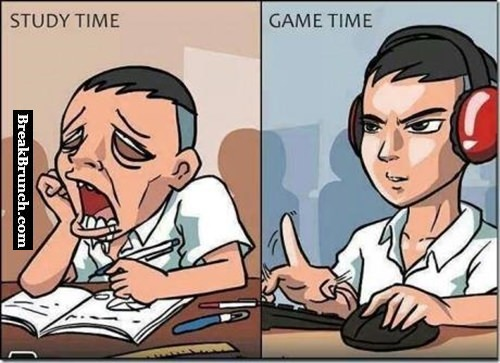 Study time vs game time