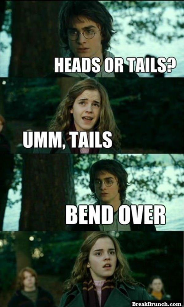 Horny Harry Potter strikes again