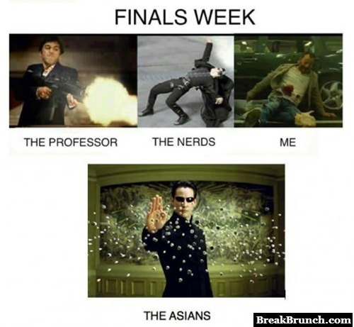 During the final weeks