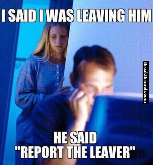 He said he will report me for leaving
