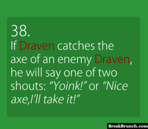 Id Draven catches the enemy Draven's axes in League of Legends