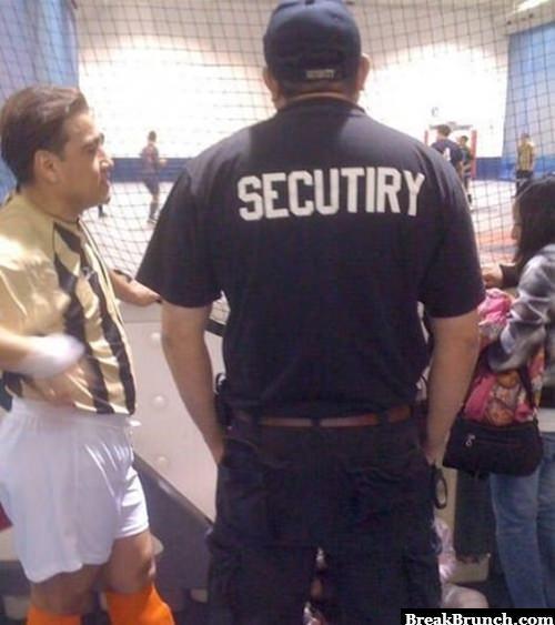 Funny security uniform