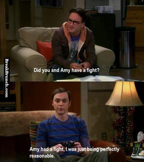 Sheldon is being perfectly reasonable
