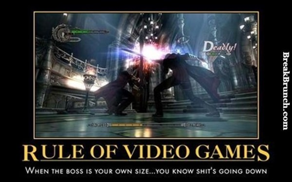 The rule of game while fighting boss