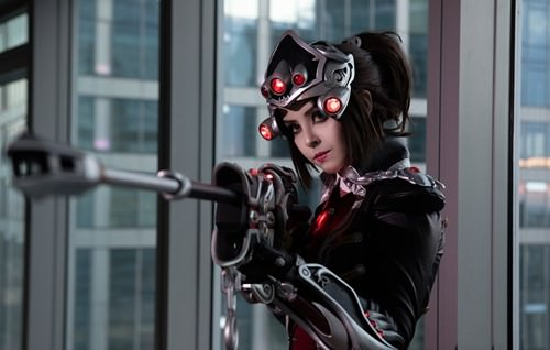 Awesome widowmaker huntress cosplay by Disharmonica (16 photos)