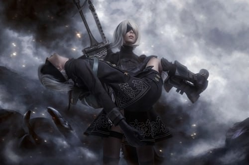 NieR: Automata – 2B X 9S, cosplay by Disharmonica (8 photos)
