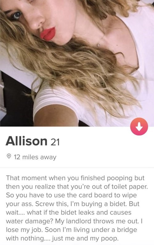 25 shameless slutty tinder profiles you have to see