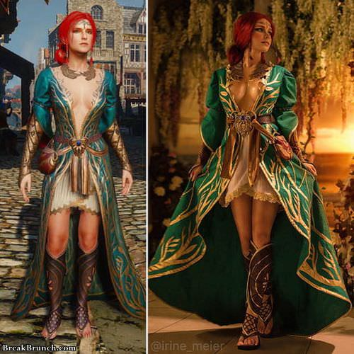 The Witcher 3: Triss Merigold cosplay