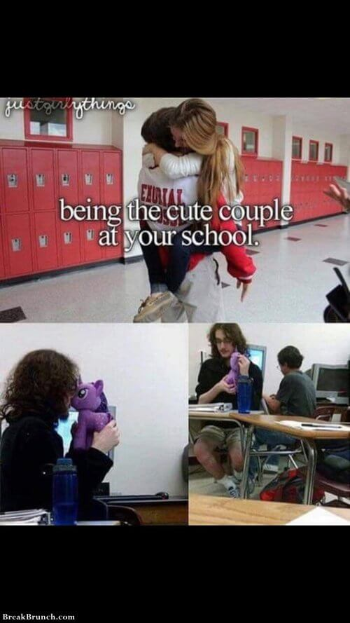 Being a cute couple at your school