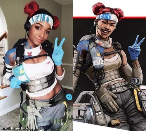 Amazing Apex Legends Lifeline Combat Medic Cosplay 4 Pics -4034
