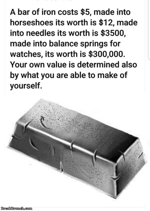 You determine your own worth