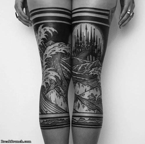 24 awesome leg tattoos BreakBrunch