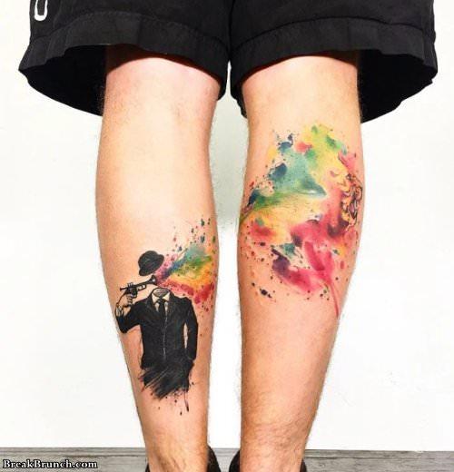24 awesome leg tattoos