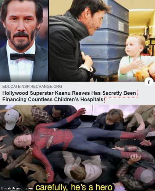 Keanu Reeves is a real hero