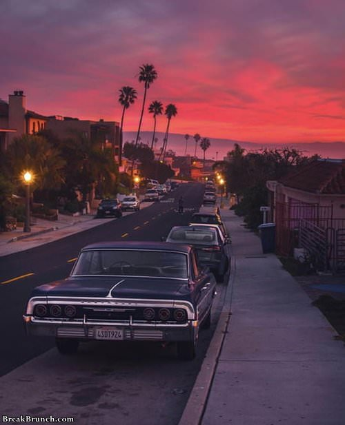 Sunset at Los Angeles