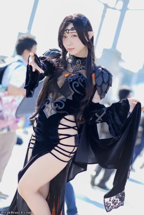Sexy dark elf cosplay by moe_five (伊織もえ)
