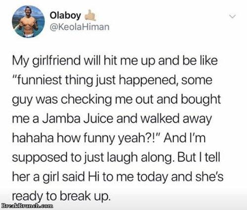 Girlfriend's double standard