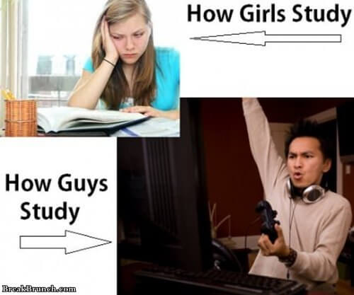 girls-vs-guys-studying-funny