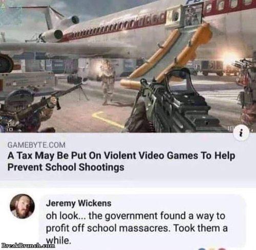 Government found a way to profit off school massacres