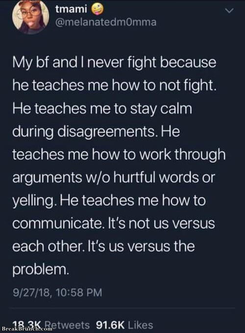 It is us versus the problem