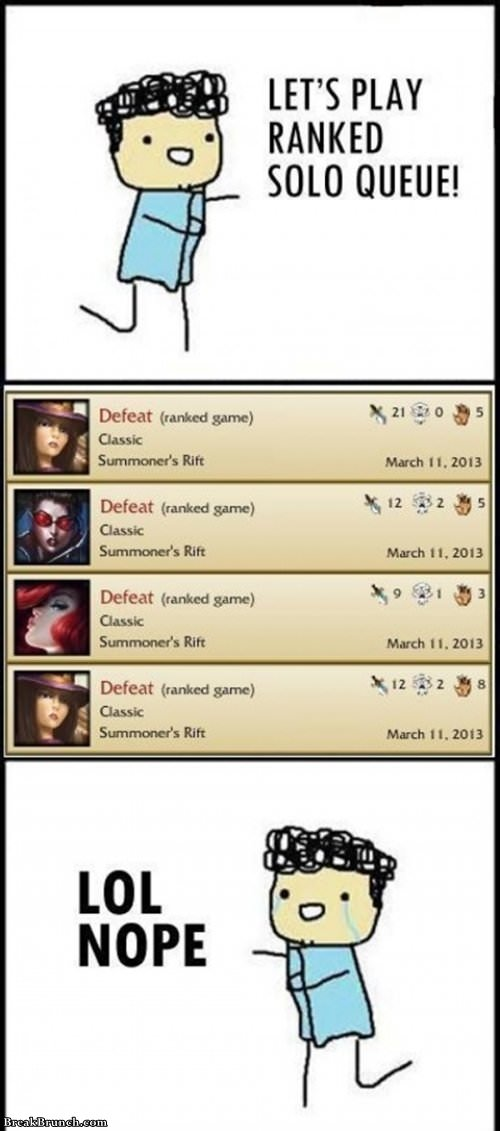 Rank game is fun in League of Legends