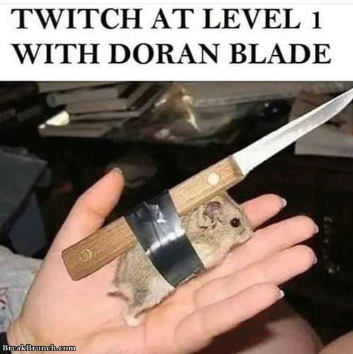 Twitch with doran blade