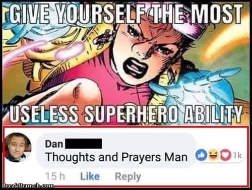 Useless superhero power
