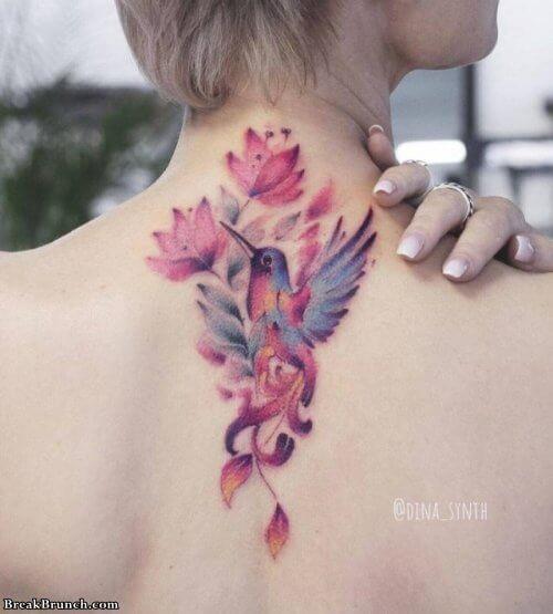 Stunning watercolor tattoos (20 pics)